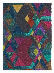Bild: Ted Baker Design Teppich Mosaic (Bunt/Rot; 140 x 200 cm)