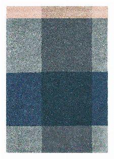 Bild: Ted Baker Schurwoll Teppich Plaid (Blau/Grau; 170 x 240 cm)