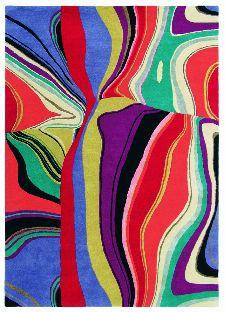 Bild: Teppich Estella Curve (Bunt; wishsize)