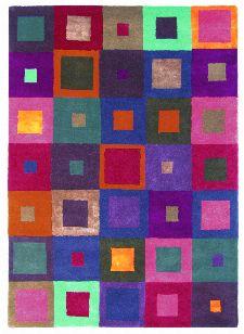 Bild: Teppich Estella Carre (Rot; 200 x 280 cm)