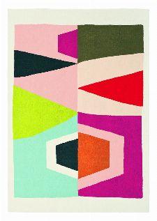 Bild: Ethno-Design Teppich Estella Totem 878502 (Weiß; wishsize)