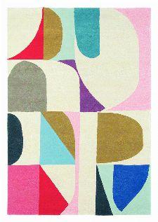 Bild: Teppich Estella Harmony (Bunt/Rosa; wishsize)