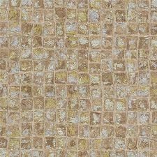 Bild: design id elegante Vliestapete Alpha AL1001-4 - Mosaikoptik (Beige/Gold/Silber)