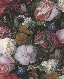 Bild: Eijffinger Vliestapete Masterpiece 358000 - Blumen Gemälde (Schwarz)