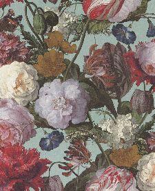 Bild: Eijffinger Vliestapete Masterpiece 358003 - Blumen Gemälde (Türkis)