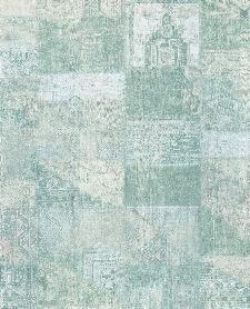 Bild: Eijffinger Vliestapete Masterpiece 358033 - Patchwork (Türkis)