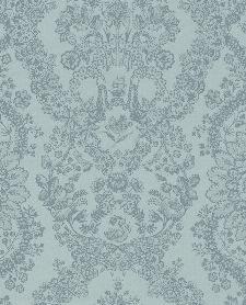 Bild: Eijffinger Tapete PIP 4 375042 - Lacy Dutch (Blaugrün)