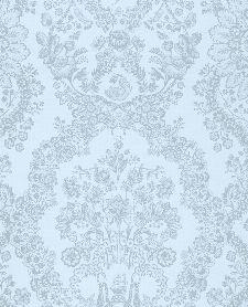 Bild: Eijffinger Tapete PIP 4 375045 - Lacy Dutch (Blau)
