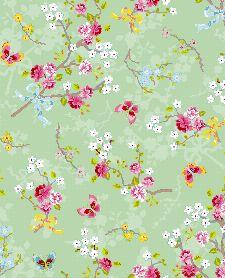 Bild: Eijffinger Tapete PIP 4 375073 - Chinese Rose (Grün)