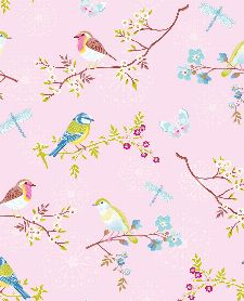 Bild: Eijffinger Tapete PIP 4 375082 - Early Bird (Rosa)