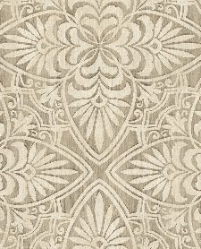 Bild: Eijffinger Sundari Vliestapete 375131 - Blumen Ornament (Sand)