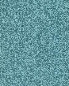 Bild: Eijffinger Sundari Vliestapete 375163 - indisches Ornament (Blau)