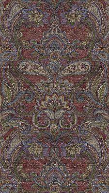 Bild: Eijffinger Tapeten Panel Sundari 375205 - Kashmir (Bordeaux)