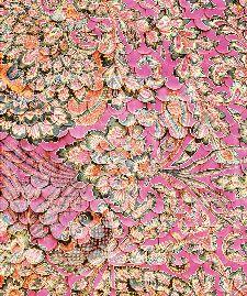 Bild: Eijffinger Fototapete Sundari 375208 - Scallop Wall (Fuchsia; 280 x 233 cm)