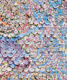 Bild: Eijffinger Fototapete Sundari 375209 - Scallop Wall (Blau; 280 x 233 cm)