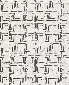 Bild: Eijffinger Vliestapete Siroc 376059 - Labyrinth Optik (Weiß/Schwarz)