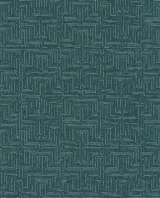 Bild: Eijffinger Vliestapete Siroc 376060 - Labyrinth Optik (Blaugrün)