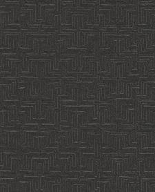 Bild: Eijffinger Vliestapete Siroc 376066 - Labyrinth Optik (Schwarz)