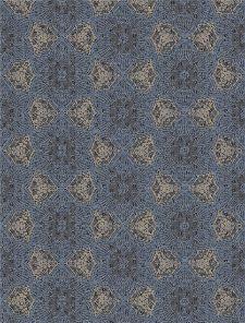 Bild: Eijffinger Tapeten Panel Siroc 376093 - Boho Flower (Blau/Gold)