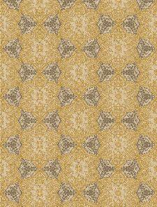 Bild: Eijffinger Tapeten Panel Siroc 376095 - Boho Flower (Gelb/Weiß)