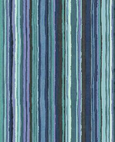 Bild: Eijffinger Vliestapete Stripes+ 377013 - dünne Pinselstriche (Bunt/Blau)