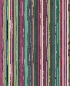 Bild: Eijffinger Vliestapete Stripes+ 377014 - dünne Pinselstriche (Bunt/Grün)