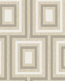 Bild: Eijffinger Vliestapete Stripes+ 377020 - geometrisches Muster (Beige)