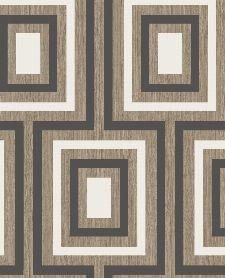 Bild: Eijffinger Vliestapete Stripes+ 377023 - geometrisches Muster (Schwarz)
