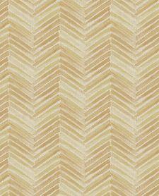 Bild: Eijffinger Tapete Stripes+ 377091 - Fischgrätmuster (Beige/Gold)