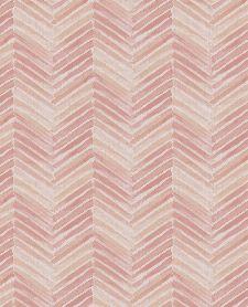 Bild: Eijffinger Tapete Stripes+ 377092 - Fischgrätmuster (Beige/Rosa)