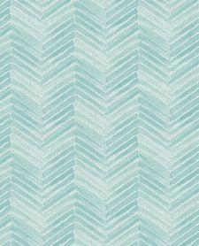 Bild: Eijffinger Tapete Stripes+ 377094 - Fischgrätmuster (Türkis)