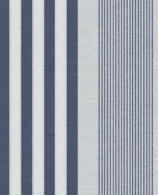 Bild: Eijffinger Streifentapete Stripes+ 377103 - Leinenoptik (Blau)