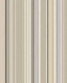 Bild: Eijffinger Tapete Stripes+ 377110 - strukturierte Streifen (Beige)