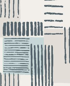 Bild: Eijffinger Mustertapete Stripes+ 377131 - Pinselstriche (Blau/Grau)