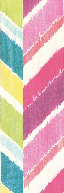 Bild: Eijffinger Tapeten Panel  Stripes+ 377210 GRAND ZIGZAG (Bunt/Pink)