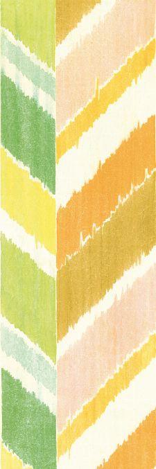 Bild: Eijffinger Tapeten Panel  Stripes+ 377211 GRAND ZIGZAG (Bunt/Grün)