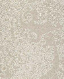 Bild: Eijffinger Reflect Vliestapete 378007 - Pfau mit Blumen (Creme)