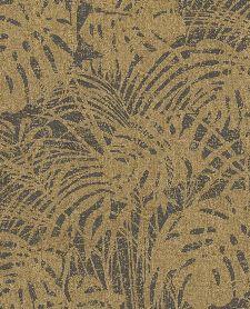 Bild: Eijffinger Reflect Vliestapete 378010 - Farnwiese (Gold/Braun)