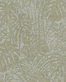 Bild: Eijffinger Reflect Vliestapete 378011 - Farnwiese (Türkis-Gold)