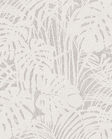 Bild: Eijffinger Reflect Vliestapete 378018 - Farnwiese (Weiß/Grau)
