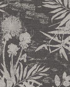 Bild: Eijffinger Vliestapete Lino 379035 - Farnwiese (Schwarz/Weiß)