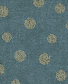 Bild: Eijffinger Vliestapete Lino 379044 - Punkte (Blau/Gold)