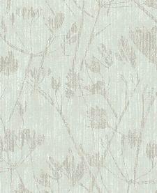 Bild: Eijffinger Vliestapete Lino 379051 - Blumen Silhouette (Salbei)