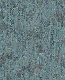 Bild: Eijffinger Vliestapete Lino 379053 - Blumen Silhouette (Kobaltgrün)