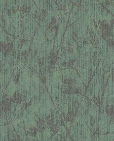 Bild: Eijffinger Vliestapete Lino 379054 - Blumen Silhouette (Grün)
