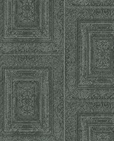 Bild: Eijffinger Vliestapete Stature 382523 - Stuckwand (Blaugrün)