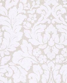 Bild: Eijffinger Vliestapete Stature 382540 - Barock Pflanzenmuster (Weiß)