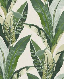 Bild: Eijffinger Vliestapete Vivid 384500 - Palmenblätter (Weiß)