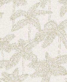 Bild: Eijffinger Vliestapete Vivid 384510 - Palmen (Weiß/Gold)