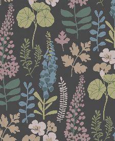 Bild: Eijffinger Vliestapete Vivid 384535 - Blumen (Schwarz)